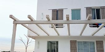 בית יווני, צבע מינרלי, טרה פנלו, הרצליה